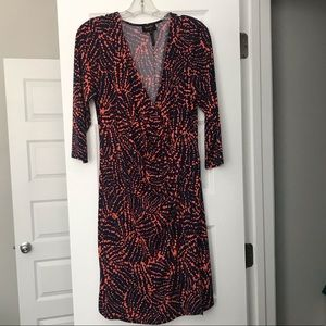 Laundry Printed Wrap Dress
